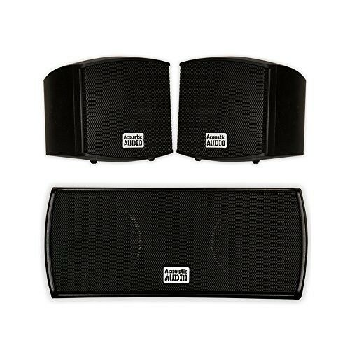 Acoustic Audio AA321B and AA32CB Mountable Indoor Speakers Home Theater 3 Speake