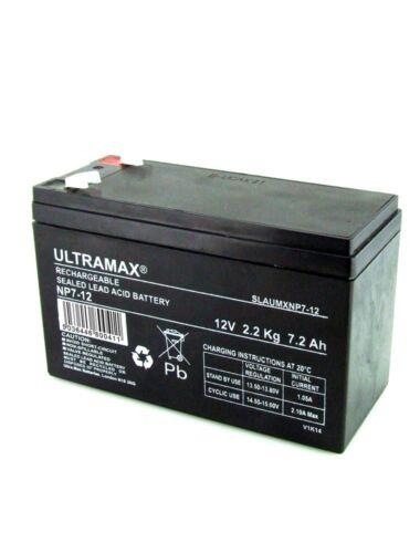Alco ACP10 Intruder 12V 7Ah Replacement Ultramax 12V 7Ah Alarm Battery