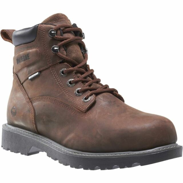 Wolverine Men's Floorhand 6 Inch Waterproof Steel Toe-M Work Boot Dark Brown 11 M US