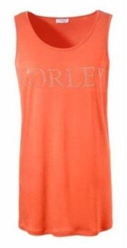 Corley Femmes Débardeur Top Tank Shirt Débardeur Sans Manche glitzersteinchen Orange 739006