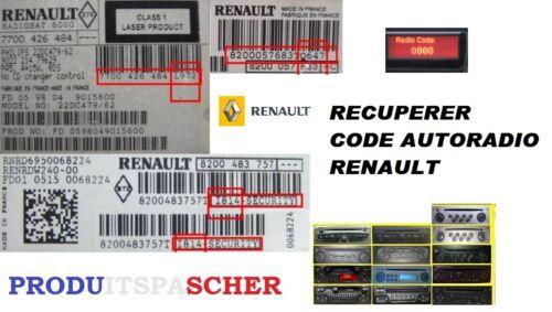 Code autoradio renault recuperation code autoradio renault code renault radio