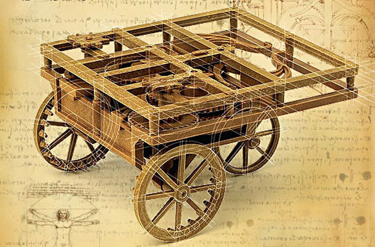 Self Propelled Cart >> Academy Leonardo Da Vinci Self Propelling Cart 18129 Ebay