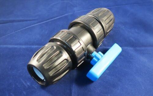 Ball Valve Quarter Turn Plastic 20mm,25mm,32mm,50mm,63mm. MDPE Shut off Tap