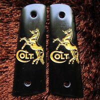 Resin Grips For Colt 1911 Kimber Clone Taurus Gold Horse Style Full Size