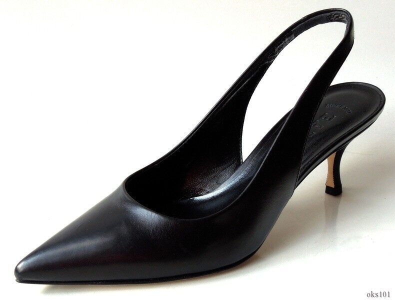 New  535 BALLY schwarz leather leather leather slingback pumps schuhe - CLASSIC a94a6a