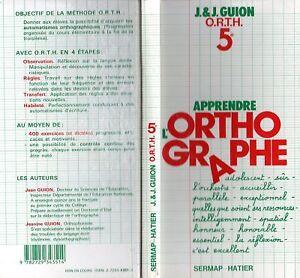 Details Sur Guion Apprendre L Orthographe 5 Hatier