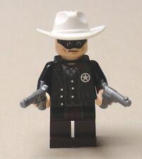 NEW Lego Lone Ranger Minifig Cowboy Guy w/ 2 CHROME PISTOLS