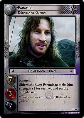 Dunadan of Gondor FOIL 12RF4 LOTR TCG BR Black Rider Faramir