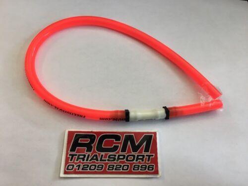 Fuel line breather hose pipe non return valve trials enduro pit bike pink
