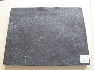Black-Acrylic-Felt-with-silver-glitter-finish-23-x-30-cm-AF02-20-Craft-Factory