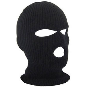 a72e4248fef Mens Balaclava Mask Black Wool Blend 3 Hole Warm Winter Ski ...