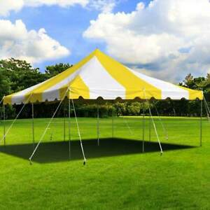 Weekender 20x20 Pole Tent Wedding Event Yellow White