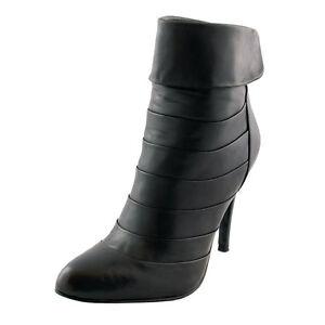 5th Avenue Stiefel Lederstiefel Stiefeletten schwarz Ankle Boots Heels (#2820)