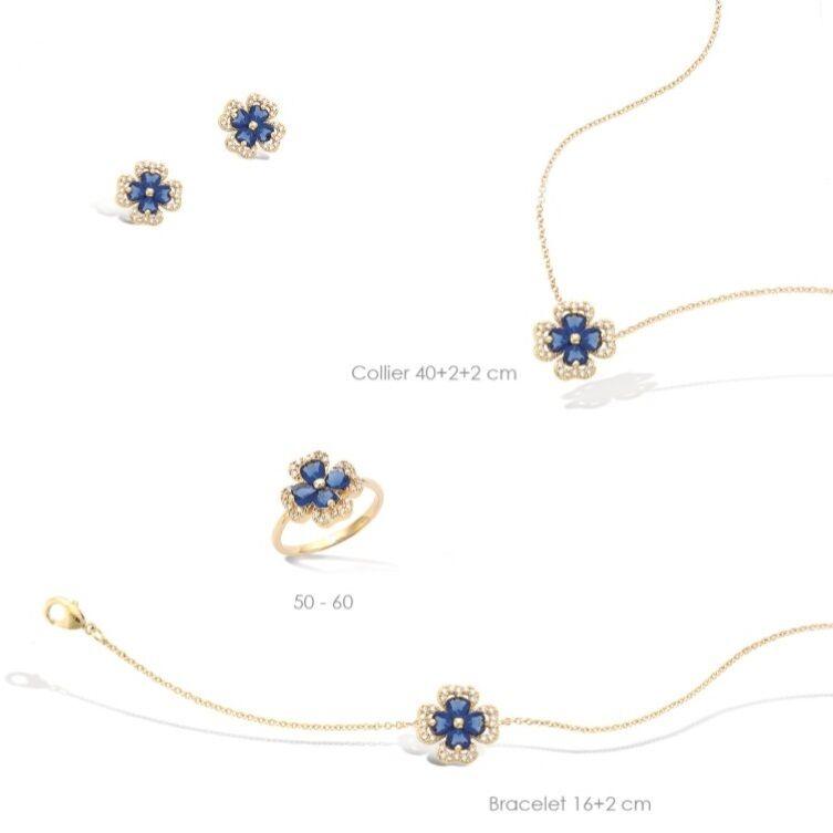 Collier 45cm Croix Sertie de Diamant Cz 23mm Plaqué Or 18K 3 Micron Dolly-Bijoux