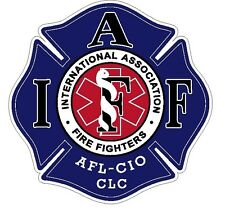 "4"" IAFF Decal EMS Logo Exterior Mount READ AUCTION"