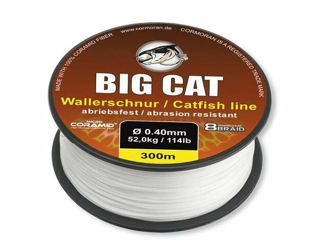 CORMORAN Big Cat  8-Braid,300m,0.40mm,geflochtene Coramid Wallerschnur, 78-03041  free and fast delivery available