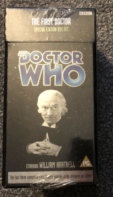 DOCTOR Dr WHO VHS The First Doctor Boxed Set - Still Sealed Hartnell 1st