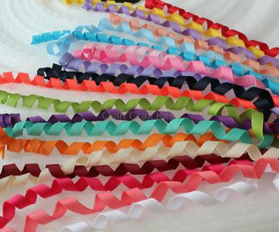 "50 pcs Precut 3//8/"" Grosgrain Korker Hair bow Ribbon-Sealed-U Pick 28 colors"