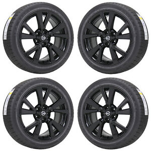 18 Nissan Maxima Black Wheels Rims Tires Factory Oem 2016 2017 2018