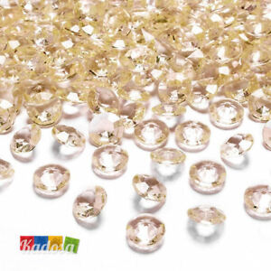 Ensoleillé 100 Diamanti Decorativi 12 Mm Pesca - Diamantini Centrotavola Party Avorio Oro Douceur AgréAble