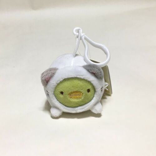 5Cm Licensed San-X Sumikko Gurashi Penguin Plush Toys Doll Key Chain Ring Strap