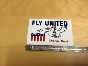 HIgh-Grade-Original-Novelty-CREDIT-CARD-circa-1960-039-s-FLY-UNITED-w-2-ducks