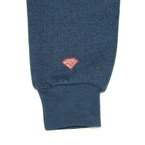 INDIGO PULLOVER Indigo White Logo Crewneck Men/'s Sweatshirt Diamond Supply Co