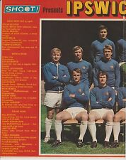 IPSWICH TOWN 1970-1971 DOUBLE PAGE TEAM GROUP ORIG HAND SIGNED BY FRANK CLARKE