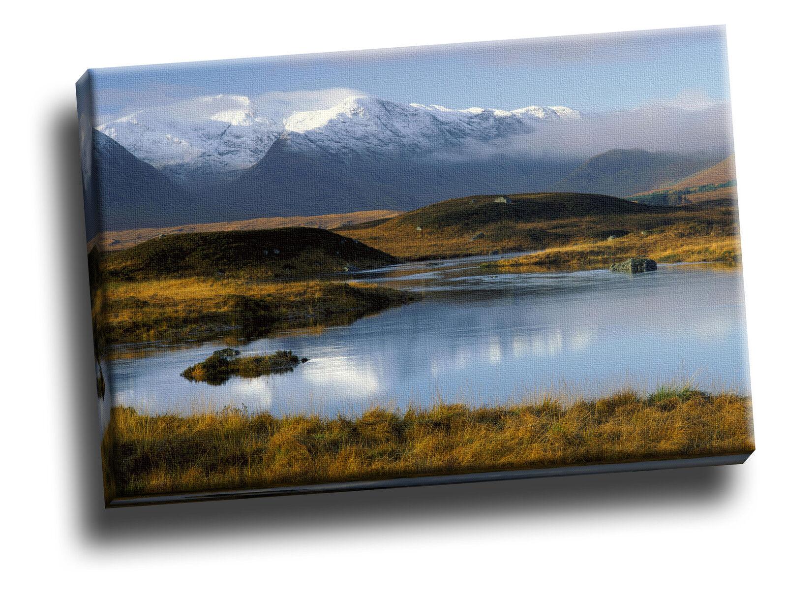 Rannoch Moor Scotland Giclee Canvas Wall Art Picture