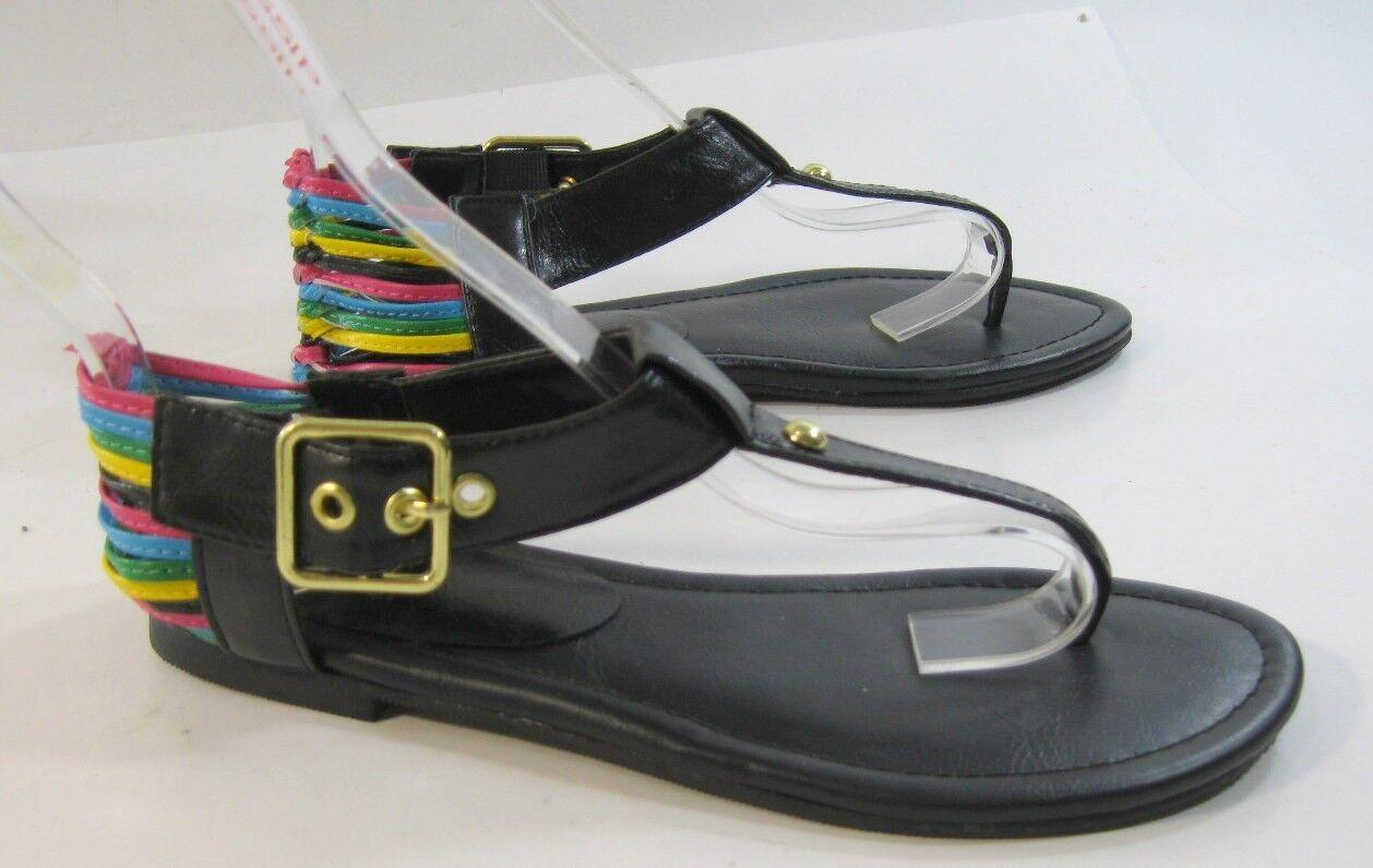 new ladies Summer Black/Multi Sandals Womens Shoes Roman Gladiator Sandals Black/Multi Size 6.5 d3bb8d
