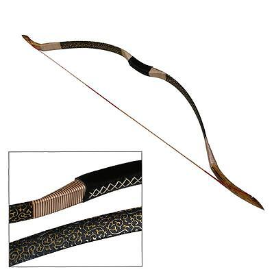 70LB Snakeskin Recurve Bow Longbow Traditional Bow String Archery Hunting