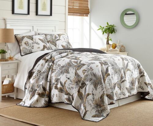 Queen Chezmoi Collection Tahiti 3-piece Vintage Washed 100/% Cotton Quilt Set