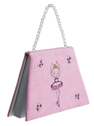 Pink Corduroy Ballet Beaded Notebook Christmas Stocking Gift By Katz NB-7565