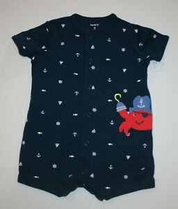 Baby & Toddler Clothing Tireless New Carter's Boys 1 Piece Pirate Crab Navy Romper Outfit Nwt Nb 3 6m 9m 12m 18m Aesthetic Appearance Clothing, Shoes & Accessories