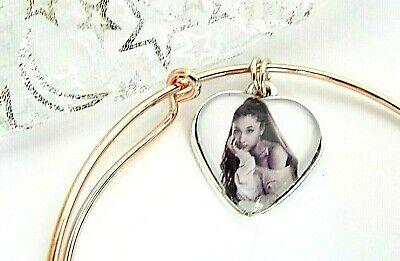 Ariana Grande 20 Mm Cuore Foto Bracciale In Oro Rosa Ciondolo Music Regalo Festa-mostra Il Titolo Originale Ottima Qualità