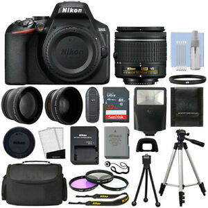 Nikon-D3500-Digital-SLR-Camera-Black-3-Lens-18-55mm-VR-Lens-32GB-Bundle
