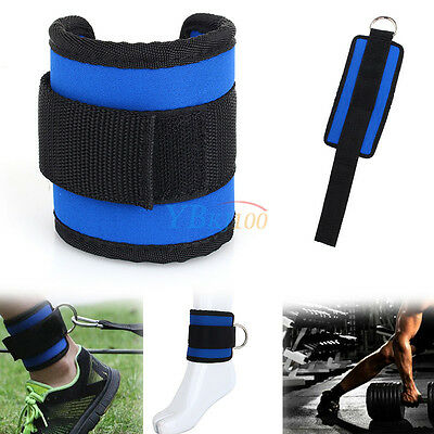 For Gym Weight Lifting Fitness Exercise New Thigh Legs Pulley Ankle D-Ring Strap