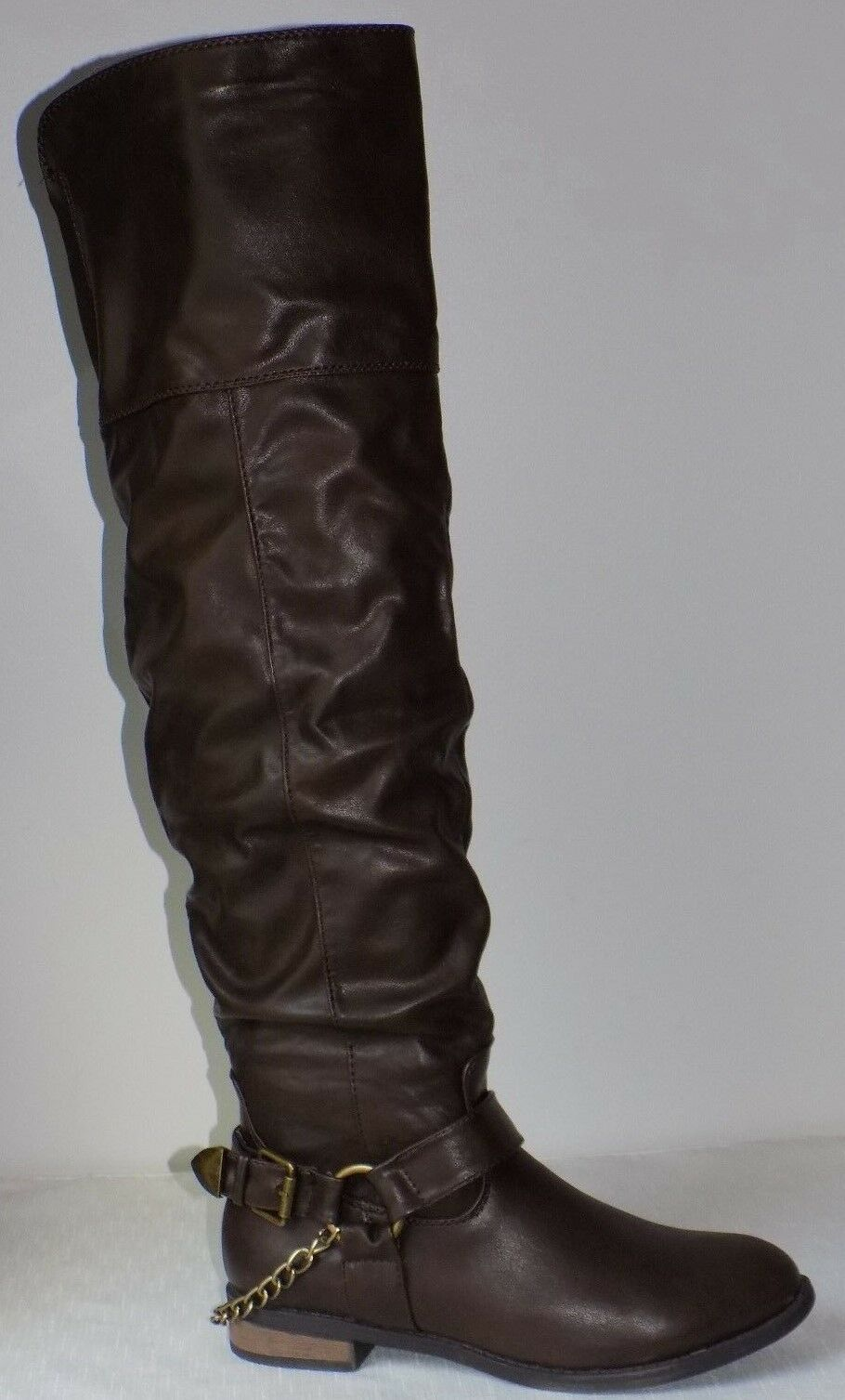 Pink Key Dylan Tall Boot   color  Dark Brown   Size  US 10