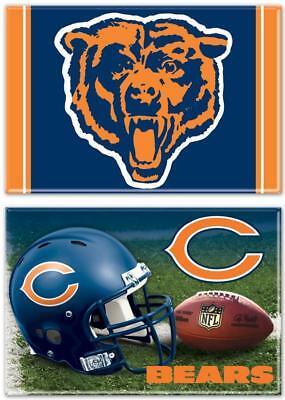 Ehrgeizig Chicago Bears Foto Magnet 2 Er Set,nfl Football,team Logo Und Helm,new Mit Traditionellen Methoden