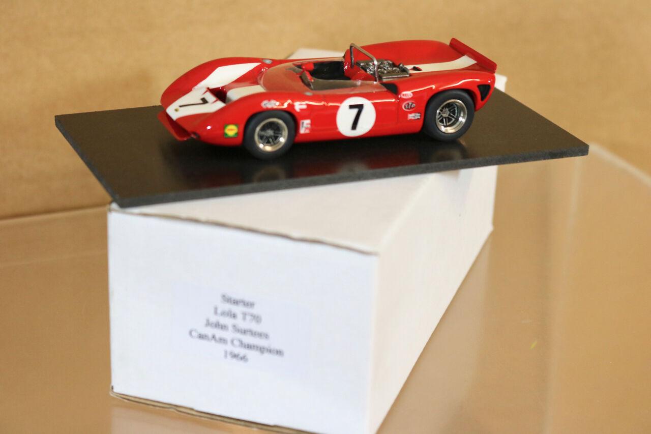 Básico Modelos Can-Am Campeón 1966 Lola T70 John Sturtees Coche 7 Menta en Caja