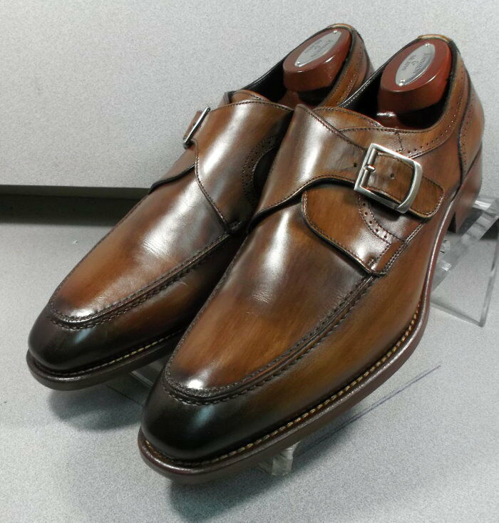 243086 MSi60 chaussures hommes Taille 10.5 m marron en cuir MADE IN ITALY Johnston Murphy