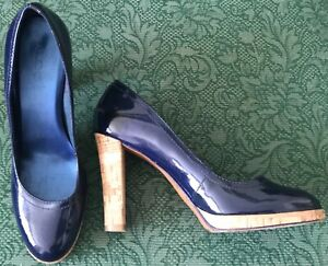 ALDO navy patent leather stylish cork
