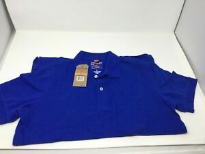 Men-s-Dockers-Work-Tennis-Short-Sleeve-Pull-Over-Polo-Shirt-Size-S-Catalina-Blue