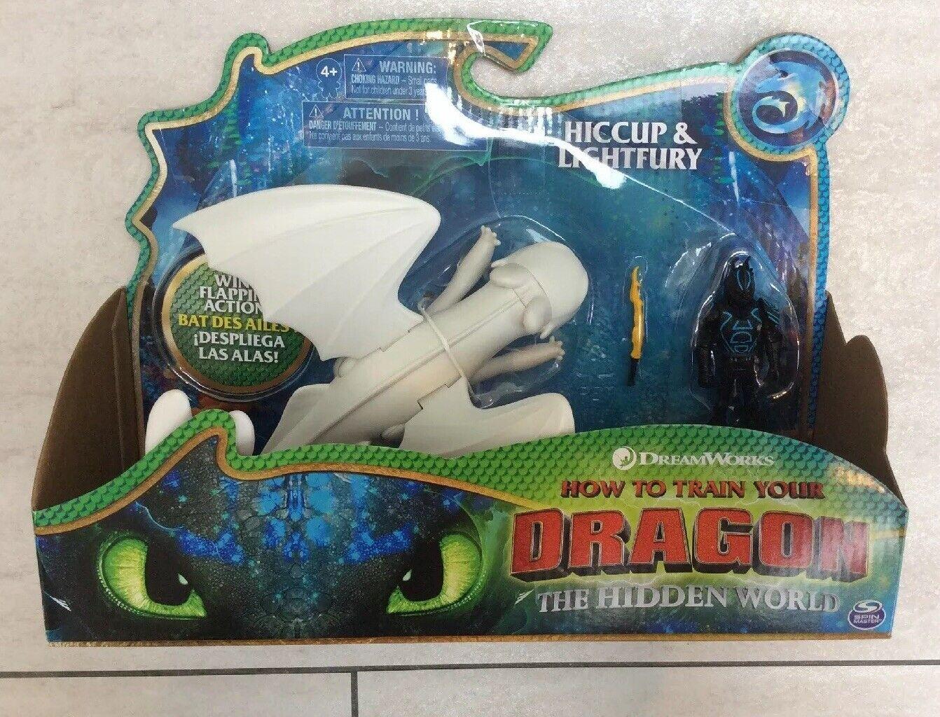 How To Train Your Dragon the Hidden World hiccup & Lightfury Set. BNIB