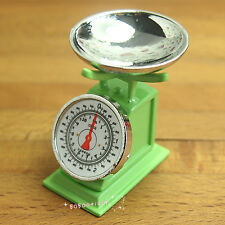Dollhouse Miniature 1:12 Toy Kitchen Metal Green Flower Shape Pot L3.1cm SPO316