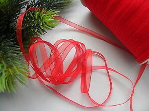 10m organza Geschenkband 6mm Schleifenband Hochzeit/Weihnachten/Schleifen/Rot - Deutschland - 10m organza Geschenkband 6mm Schleifenband Hochzeit/Weihnachten/Schleifen/Rot - Deutschland