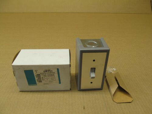 NIB SIEMENS SMF-FG1 SMFFG1 MANUAL STARTER 1P TOGGLE 277V 1HP  0.75HP 30+ AVAIL