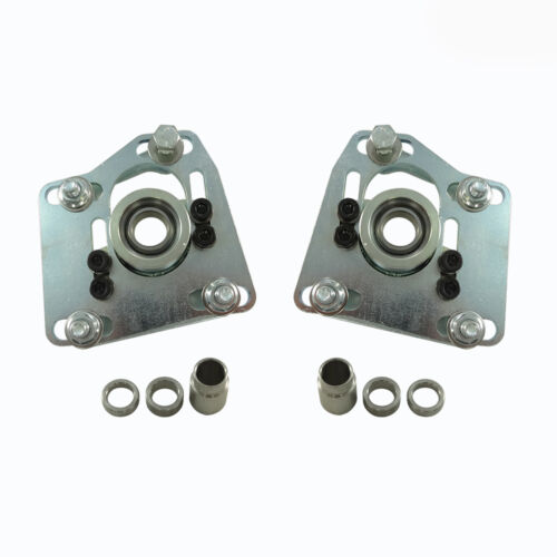 1997 98 99 MUSTANG 4 BOLT CASTER CAMBER PLATES SILVER