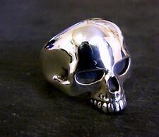 GRANDE solido argento finissimo Anello Teschio Keith Richards stile fatto a mano tutte le dimensioni