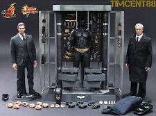 Ready! Hot Toys Dark Knigt Batman Armory Armoury Bruce Wayne Alfred Pennyworth